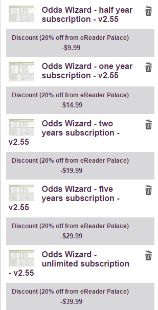 Odds Wizard 20% off coupon code