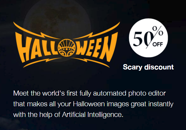 Halloween Promotion - 50% OFF deal page
