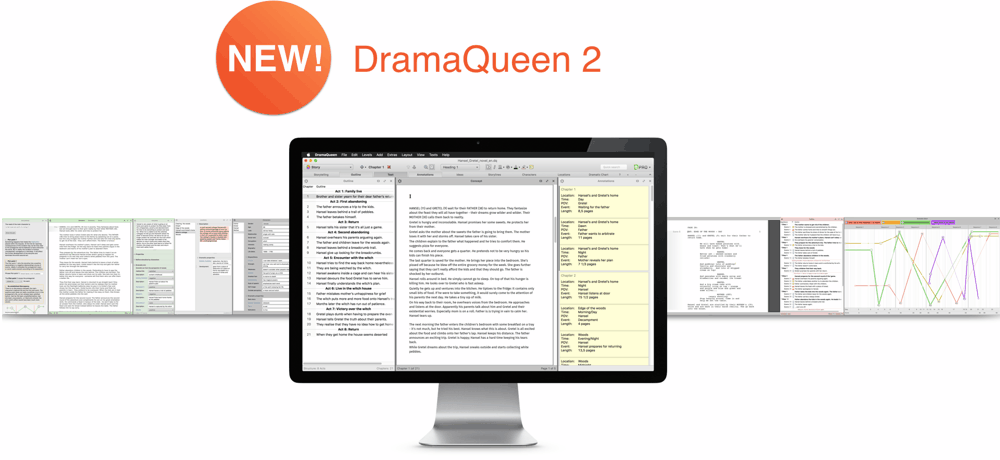 Quick Look to DramaQueen Story Development Software